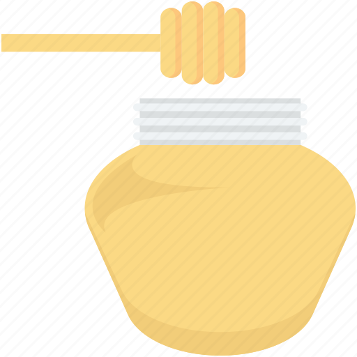 honey, honey dipper, honey dripping, honey drizzler, honey jar icon