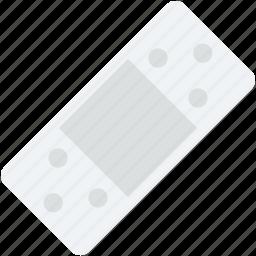 adhesive bandage, band aid, bandage, first aid plaster, sticking plaster icon
