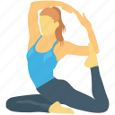 acrobatic, exercising, workout, yoga, yoga posture icon