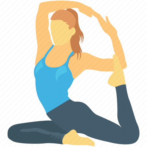 Acrobatic Exercising Workout Yoga Yoga Posture Icon