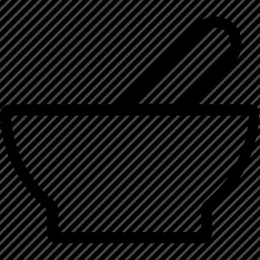 bowl, healthcare, mortar, pestle, pharmacy icon