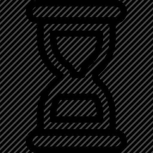 egg timer, hourglass, sand timer, sandglass, timer icon