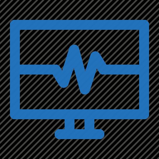 beat, monitor, pulse, signal icon