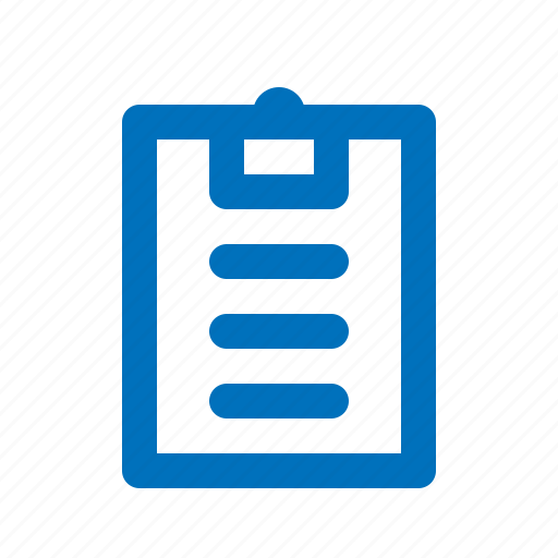 document, list, paper, report, result icon