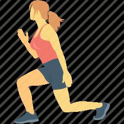 athlete, exercising, player, sports person, sportswoman icon