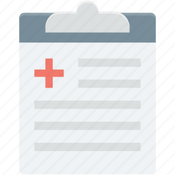 clipboard, medical report, medication, patient report, prescription icon