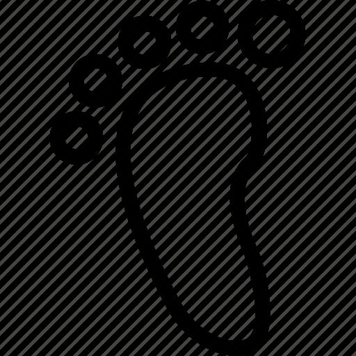 baby foot, foot, footprint, footstep, human, walk icon