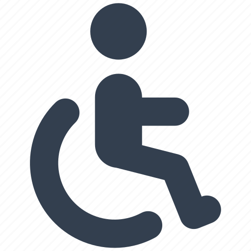 care, disable, health, invadid, man, medical, para olimpics, person, wheelchair icon