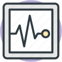 ecg, ecg screen, electrocardiogram, heart check up, heartbeat screen icon