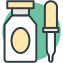 dropper, medication, medicine dropper, medicine jar, pipette icon