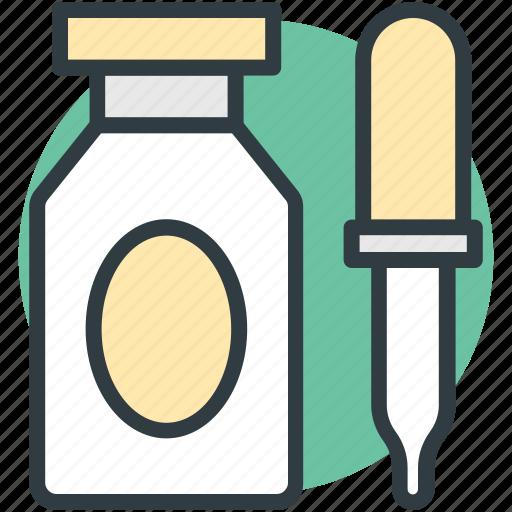 dropper, medication, medicine dropper, medicine jar, pipette icon