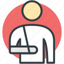 accident injury, arm fracture, arm injury, broken arm, medical treatment icon