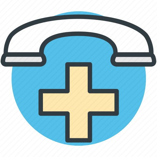 hospital helpline, hospital hotline, mobile first aid, phone first aid, receiver icon