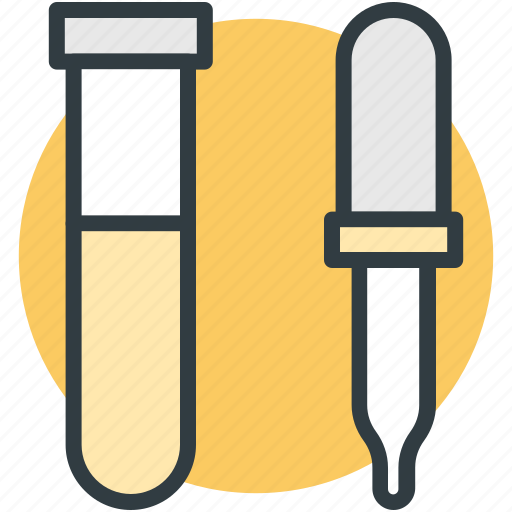 dropper, lab experiment, lab research, lab test, test tube icon