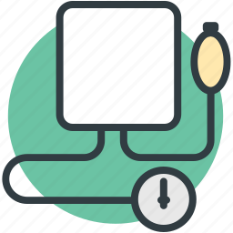blood pressure operator, bp gauge, bp monitor, bp operator, sphygmomanometer icon