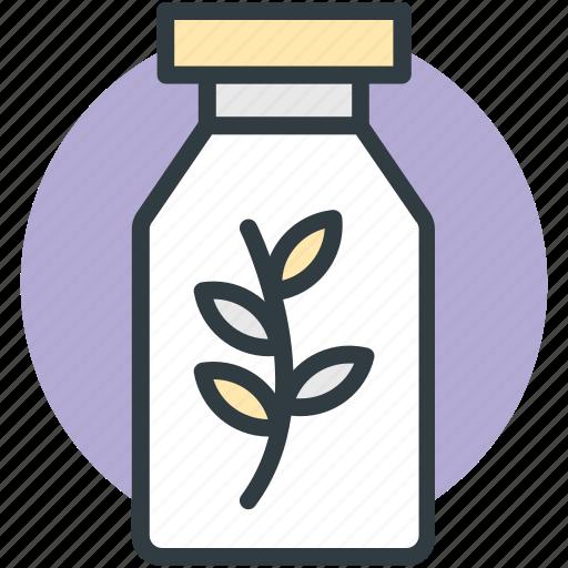 botany experiment, bottle, lab experiment, lab jar, leaf in jar icon