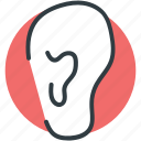body part, ear, human ear, human organ, organ icon
