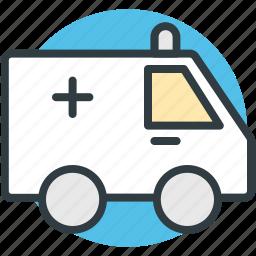 ambulance, ambulance service, medical emergency, medical transport, medical van icon