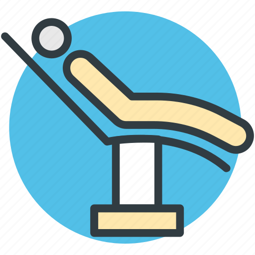 dental clinic, dental treatment, patient, patient chair, patient checkup icon