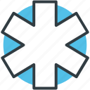 healthcare, medical emergency, medical star, medical symbol, star of life icon