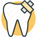 dental care, dental clinic sign, molar, tooth, tooth aid icon