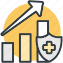 chart, graph, health recovery, healthcare, recovery chart icon
