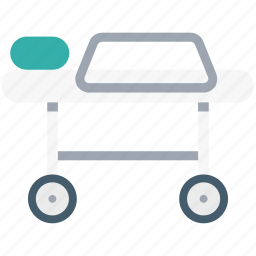 healthcare, hospital bed, hospital stretcher, medical stretcher, patient bed, stretcher icon