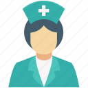 avatar, female nurse, medical assistant, nurse, profession icon