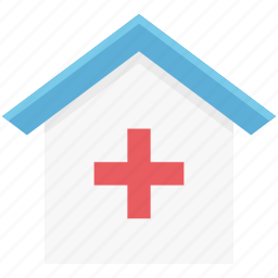 health clinic, hospital, hospital building, medical center, medical facility icon