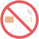forbidden, no cigarette, no smoking, quit smoking, restricted smoking icon
