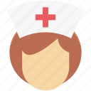 avatar, female nurse, hospital, medical assistant, midwife, nurse, profession icon