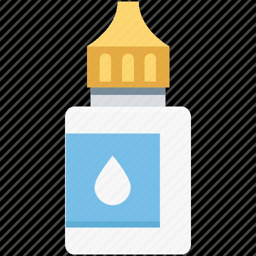 contact lense solution, eye disease, eye drops, lens solution, liquid medication icon