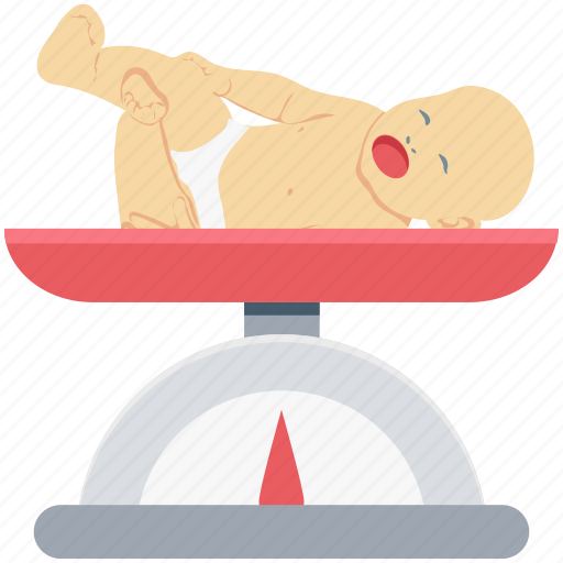 baby, baby weight, infant, measuring weight, newborn baby, weighing, weight scale icon