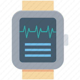 gps watch, heart rate watch, heartbeat watch, sports watch, wrist watch icon