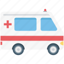 ambulance, ambulance service, medical emergency, medical transport, medical van icon