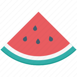 fruit piece, healthy diet, melon slice, watermelon, watermelon slice icon