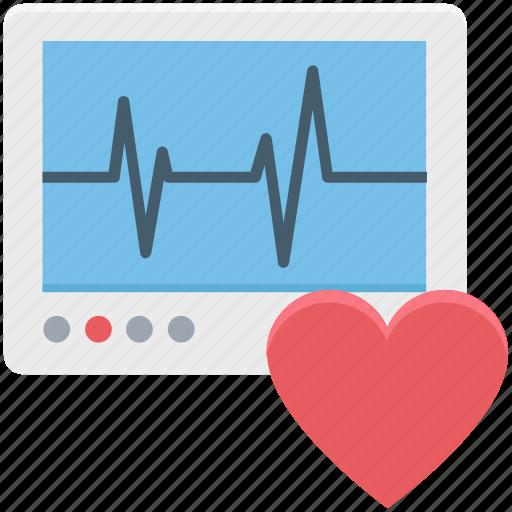 cardiology, ecg, ecg diagnostic, ecg machine, ecg monitor, ekg, electrocardiogram icon