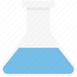 chemical, conical flask, erlenmeyer flask, flask, lab, lab accessories, laboratory experiment icon
