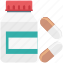 capsule, drugs, medical pills, medications, medicines, pharmacy, pills icon