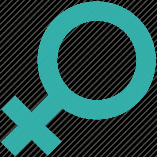 emale, female gender, gender symbol, sex symbol, venus symbol icon