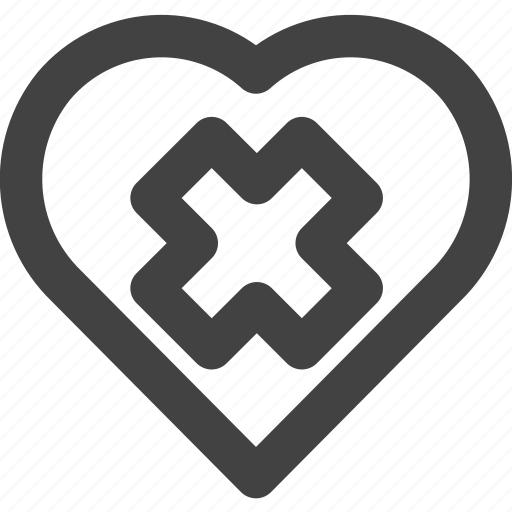 Delete, favorite, heart, love, medical icon - Download on Iconfinder