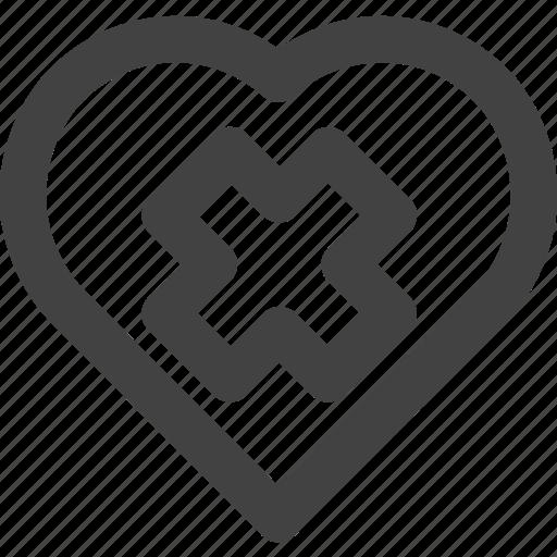 delete, favorite, heart, love, medical icon