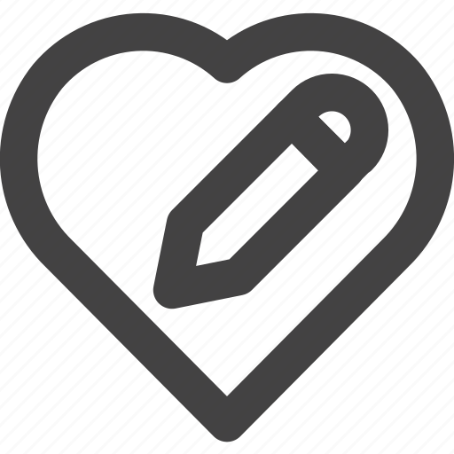 edit, favorite, heart, love, medical icon