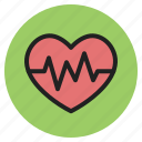 cardiogram, health, heart, heartbeat, hospital, medical, supplies icon