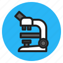 health, hospital, instrument, microscope, optical, science, supplies icon
