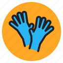 care, gloves, hands, health, hospital, medical, supplies icon