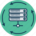 data share, data storage, network share, networking, server, server share, storage share icon