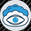 cloud, cloud eye, cloud with retina, eye, human eye, retina icon