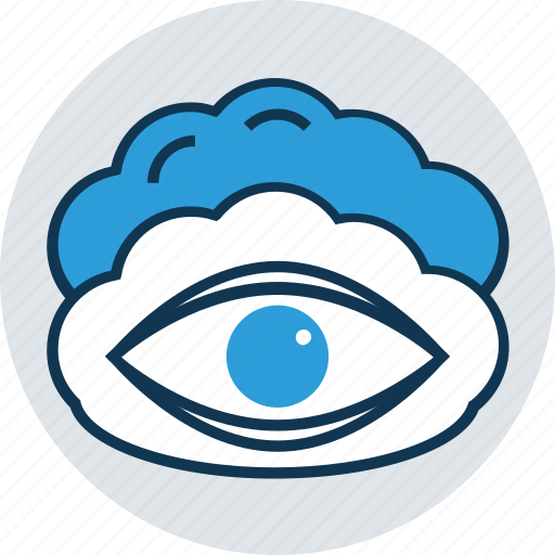 cloud, cloud eye, cloud with retina, eye, human eye, retina icon