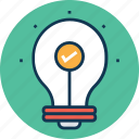 bulb, idea, idea build, idea generate, innovation, invention, light bulb icon